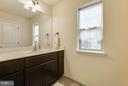 Custom designed, counter height vanities - 7131 MASTERS RD, NEW MARKET