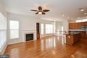 Family Room off the Kitchen - 23386 HIGBEE LN, BRAMBLETON