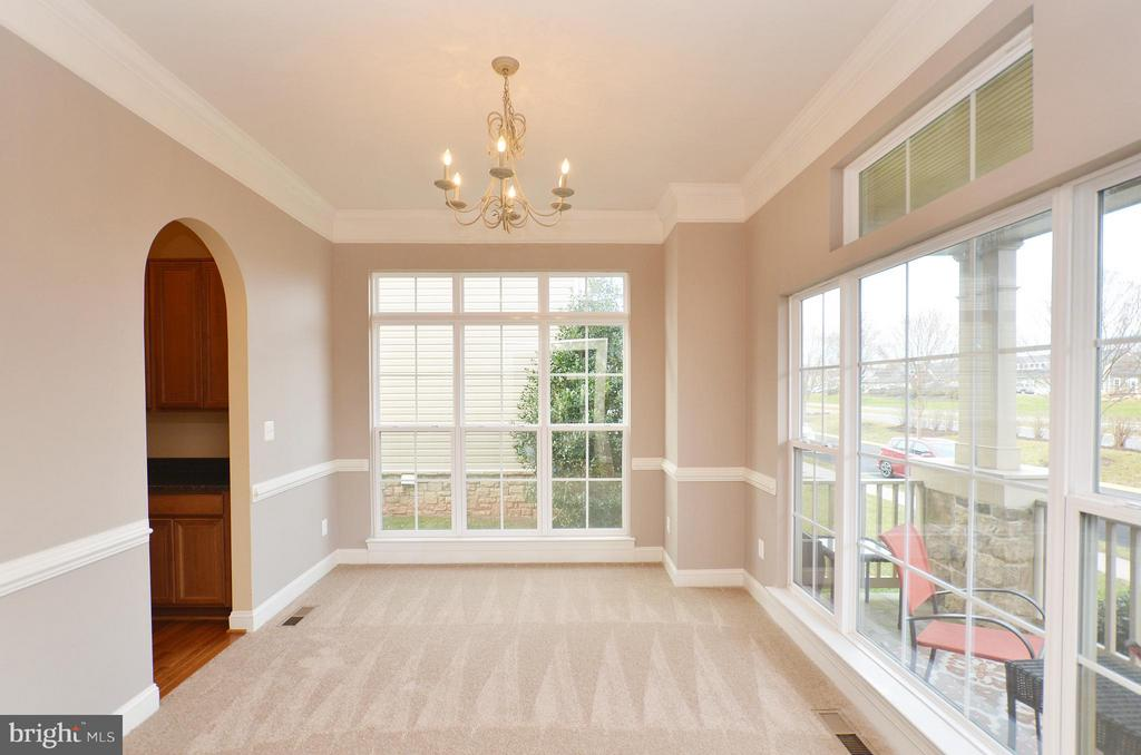 Dining Room with Tons of Natural Light - 23386 HIGBEE LN, BRAMBLETON