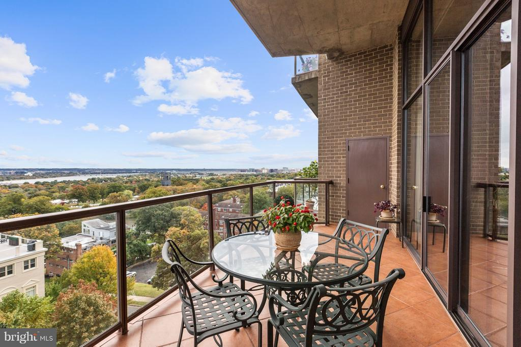 Sweeping Views of DC from the Expansive Balcony - 1401 N OAK ST #603, ARLINGTON