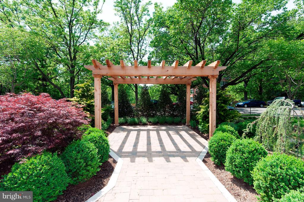 Outdoor Common Space - 1401 N OAK ST #603, ARLINGTON