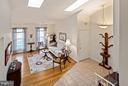 Living Room with Vaulted Ceiling & Skylights - 10001 WOOD SORRELS LN, BURKE
