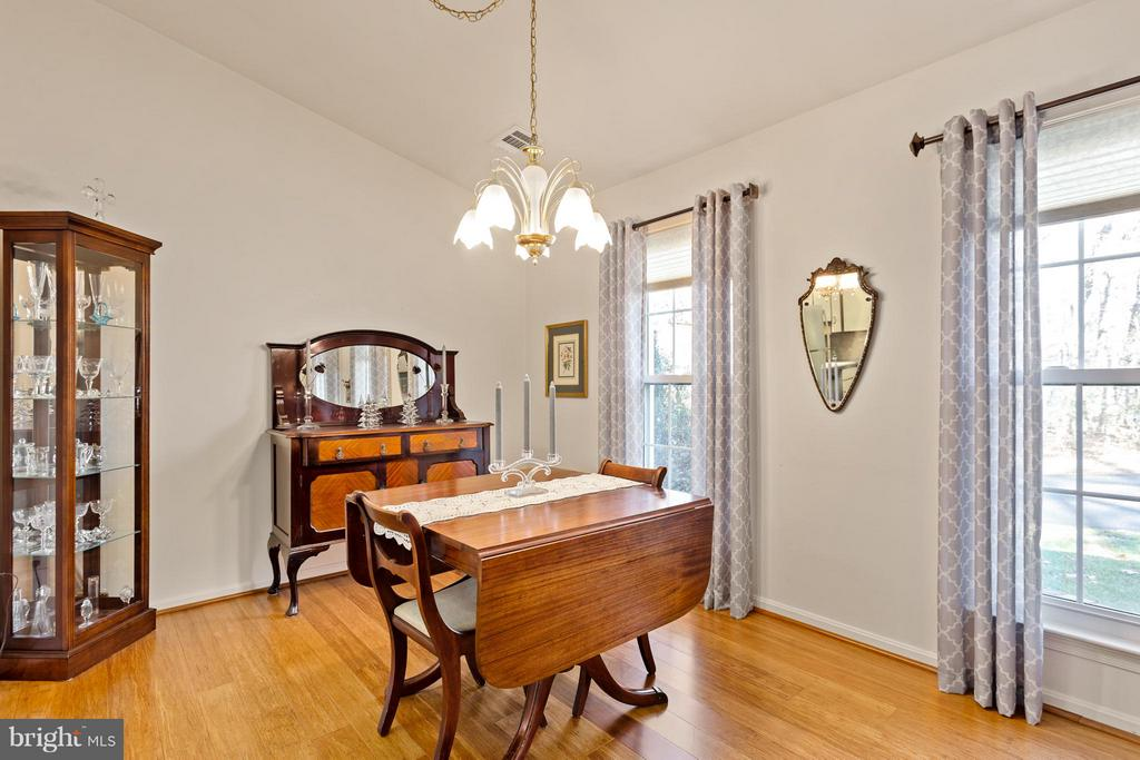 Dining Room with Vaulted Ceiling & Bamboo Floors - 10001 WOOD SORRELS LN, BURKE