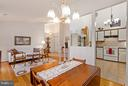 Dining Room, Living Room & Kitchen view - 10001 WOOD SORRELS LN, BURKE