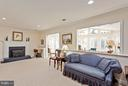 Family Room/BR3 with Fireplace - 10001 WOOD SORRELS LN, BURKE