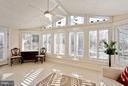 Sunroom with Cathedral Ceiling & Tile Floor - 10001 WOOD SORRELS LN, BURKE