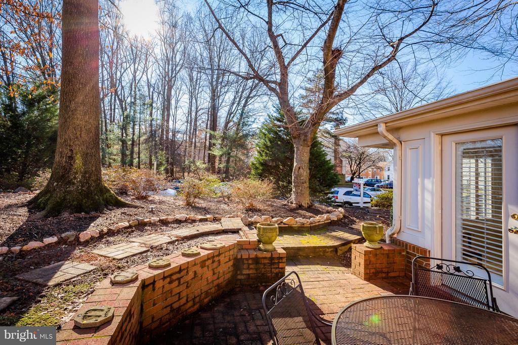 Exterior Backyard Patio & Gardens - 10001 WOOD SORRELS LN, BURKE