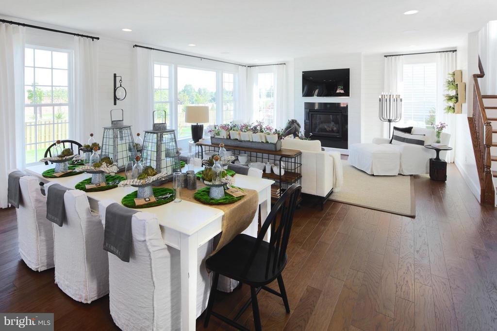 Dining to Great Room in Model - 3 BRIGHTSTAR DR, MANASSAS