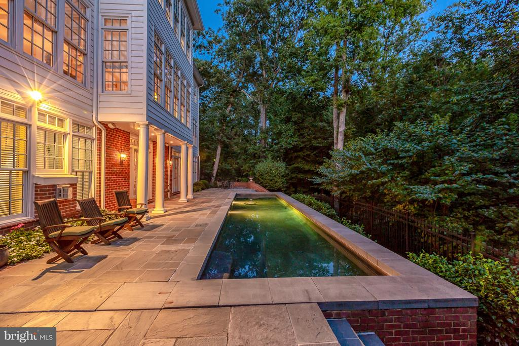 Evening by the private pool - 1103 FINLEY LN, ALEXANDRIA