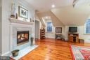 Fireplace in second master suite/luxury office - 1103 FINLEY LN, ALEXANDRIA