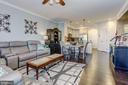 Open Floor Plan. Living Room with Hardwood Floors. - 7530 BRUNSON CIR, GAINESVILLE