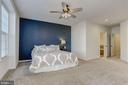 Master Bedroom with Accent Wall and Ceiling Fan - 7530 BRUNSON CIR, GAINESVILLE