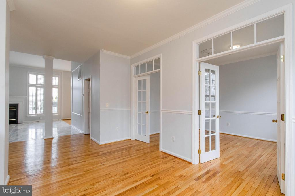 Office/Den with French Doors - 3013 ROSE ARBOR CT, FAIRFAX