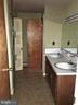 Full bath with double sink - 7115 DAMASCUS RD, GAITHERSBURG