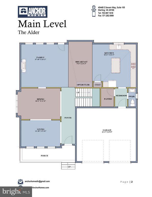 Main Lvl Floor Plan - 2336 N OAK ST, FALLS CHURCH