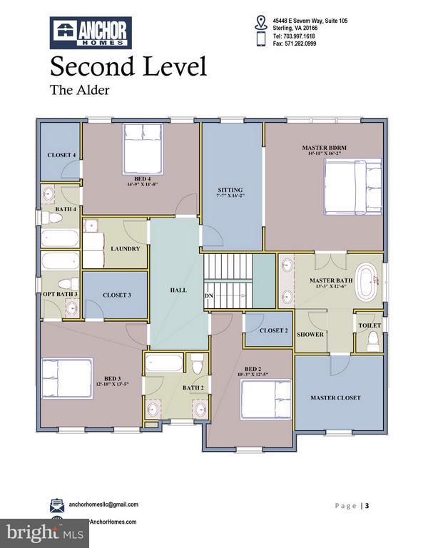 Upper Lvl Floor Plan - 2336 N OAK ST, FALLS CHURCH