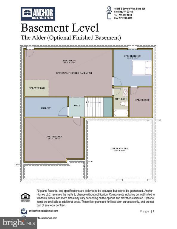 Basement Floor Plan - 2336 N OAK ST, FALLS CHURCH