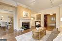 Living Room - 10401 STRATHMORE PARK CT #3-404, ROCKVILLE