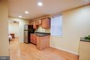 Kitchenette features sink and refrigerator - 6 DEENE CT, STAFFORD