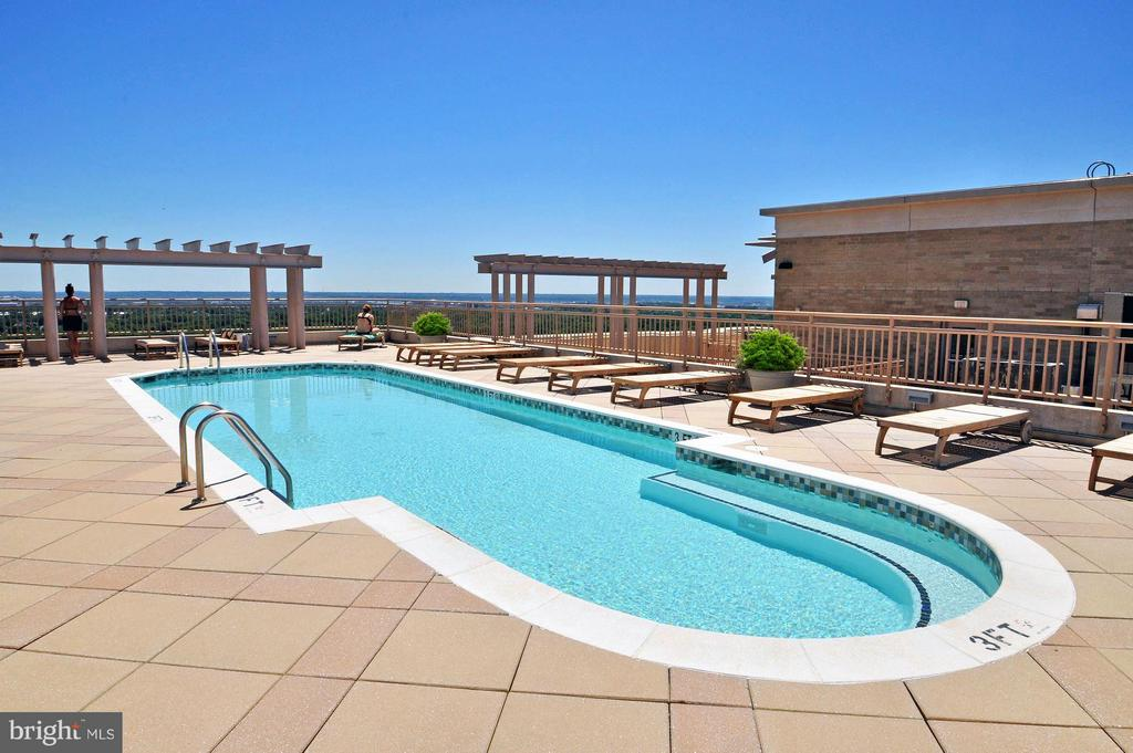 Resort style rooftop pool and lounge - 888 N QUINCY ST #901, ARLINGTON