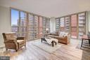 Stunning wall of windows & remote control shades - 888 N QUINCY ST #901, ARLINGTON