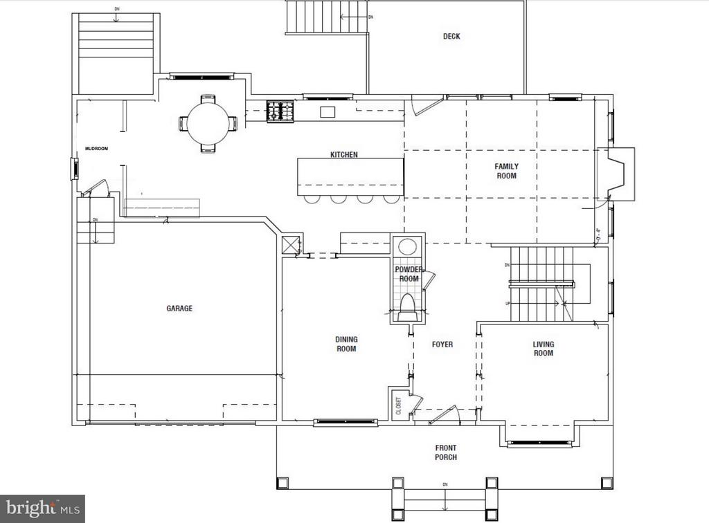 Main Level Floorplan - 4525 FAIRFIELD DR, BETHESDA