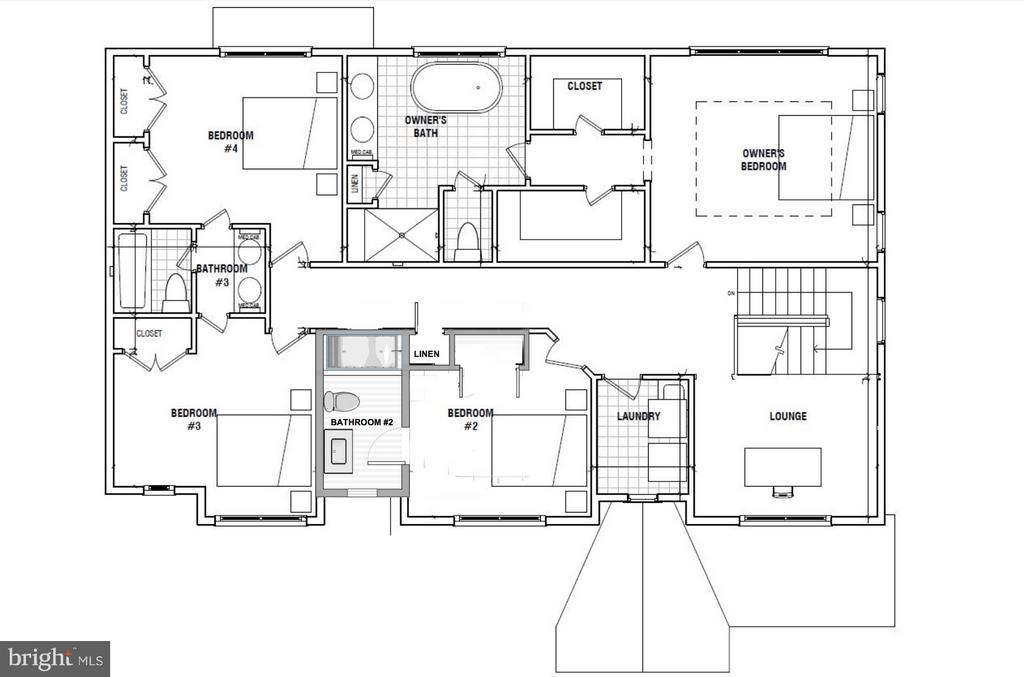 Upper Level Floorplan - 4525 FAIRFIELD DR, BETHESDA