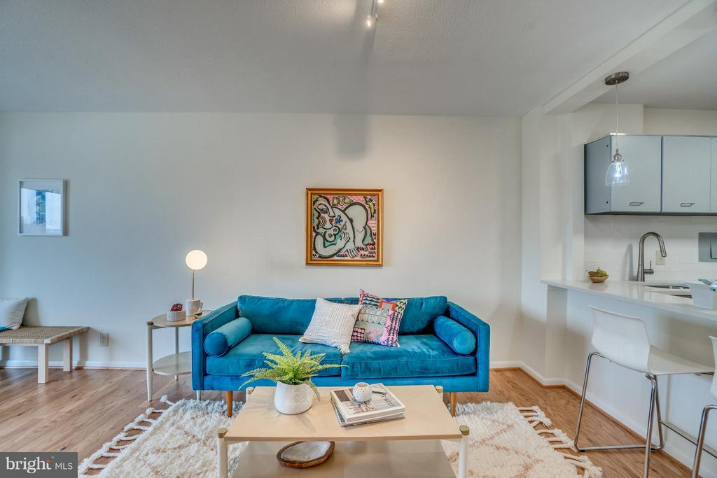Chic Living Area Perfect for Entertaining - 560 N ST SW #N707, WASHINGTON