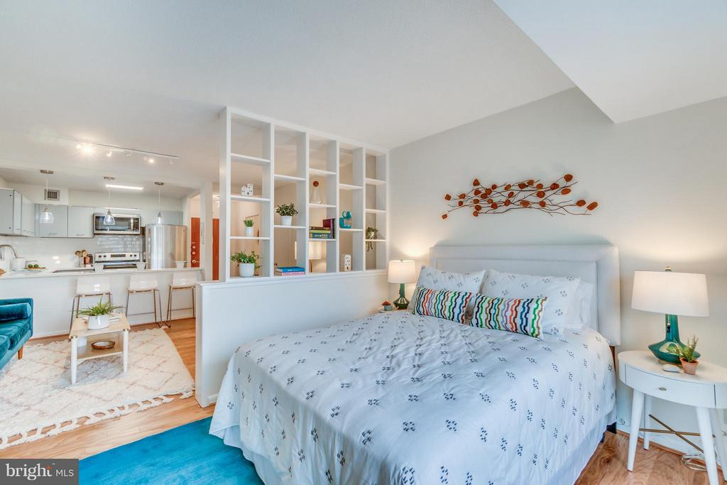 Partition Wall creates a Private Bedroom Space - 560 N ST SW #N707, WASHINGTON
