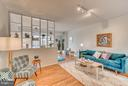 Living/Dining Area with Custom Shelving - 560 N ST SW #N707, WASHINGTON