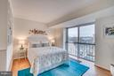 Bedroom with Water, Wharf, and Monument Views - 560 N ST SW #N707, WASHINGTON
