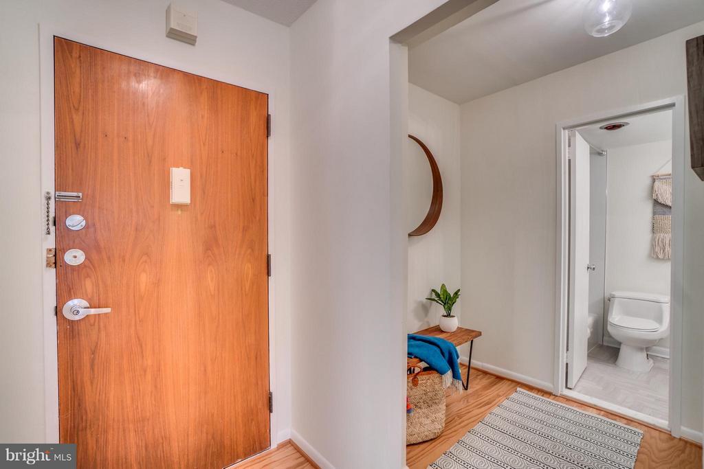 Entryway and Hallway to Bathroom - 560 N ST SW #N707, WASHINGTON