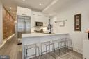 Gorgeous exposed brick wall! - 1817 VERNON ST NW #2, WASHINGTON