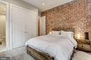 Exposed brick wall (Master Bedroom) - 1817 VERNON ST NW #2, WASHINGTON