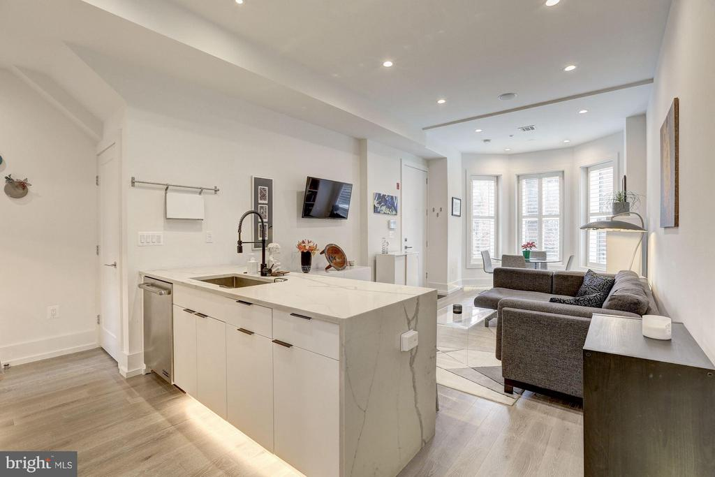 Recessed lighting throughout! - 1817 VERNON ST NW #2, WASHINGTON