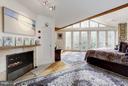 (2)Master Bedroom; Gas Fireplace - 11601 SPRINGRIDGE RD, ROCKVILLE