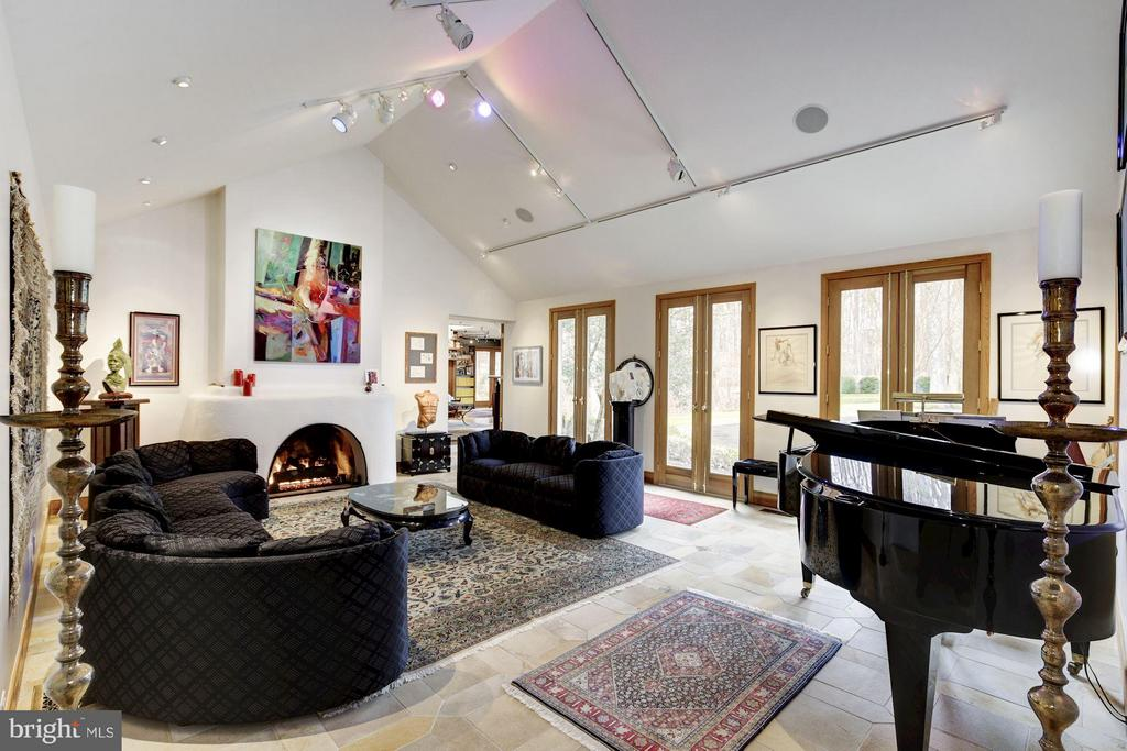 (1) Living/Music Room; Gas Fireplace - 11601 SPRINGRIDGE RD, ROCKVILLE
