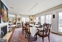 Dining Room 2; Gas Fireplace and SGD to patio - 11601 SPRINGRIDGE RD, ROCKVILLE
