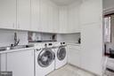 Laundry with Samsung Steam Washer/Dryer &  SS Sink - 11601 SPRINGRIDGE RD, ROCKVILLE