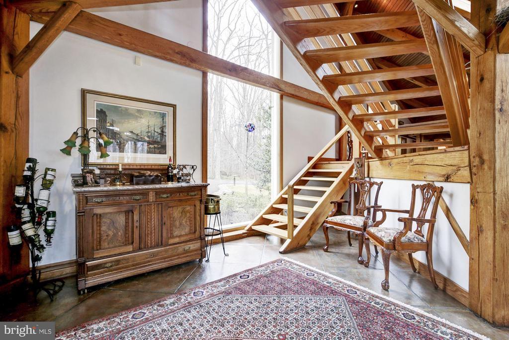 Wine Service area; Stair to Billiard Room &Library - 11601 SPRINGRIDGE RD, ROCKVILLE