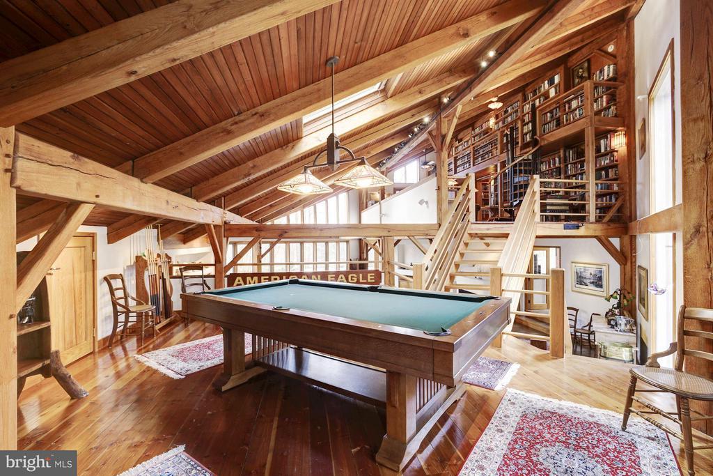 Billiard Room & Library Beyond - 11601 SPRINGRIDGE RD, ROCKVILLE