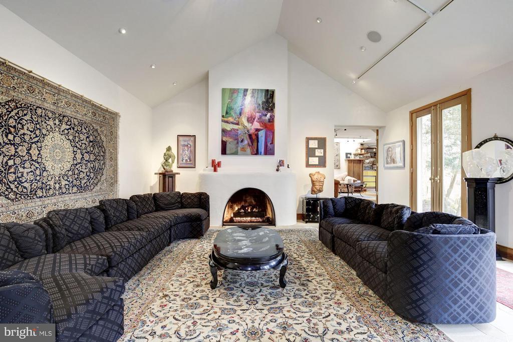 (2) Living/Music Room; Gas Fireplace - 11601 SPRINGRIDGE RD, ROCKVILLE