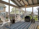 Screen Porch w/pendant lights & fan - 118 MADISON RIDGE LN, HERNDON