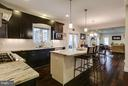 Gourmet Kitchen - 118 MADISON RIDGE LN, HERNDON