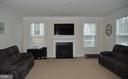 LARGE FAMILY ROOM WITH GAS FIREPLACE - 15106 ADDISON LN, WOODBRIDGE