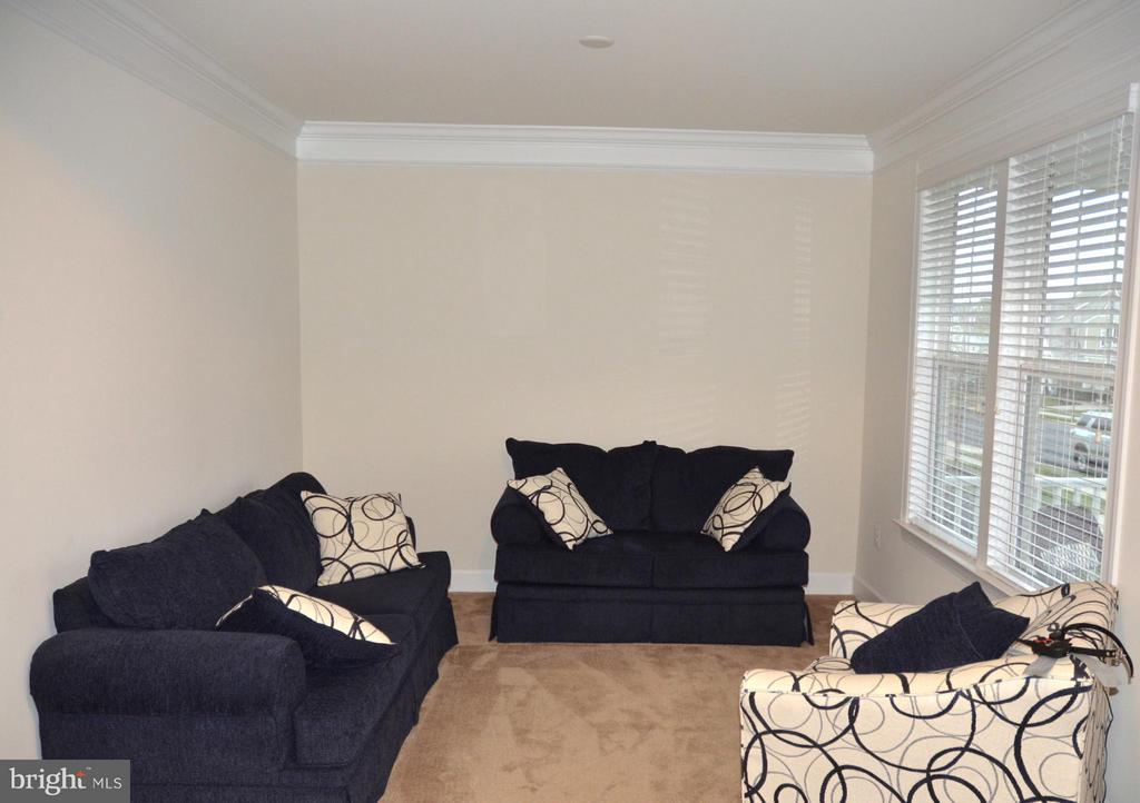 LIVING ROOM WITH CROWN MOLDING - 15106 ADDISON LN, WOODBRIDGE