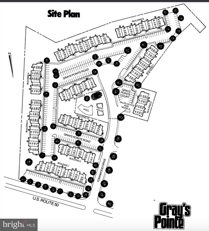 Community Site plan: 4050 Grays Point on Right - 4050B GRAYS POINTE CT, FAIRFAX
