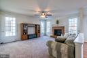 Family Room With Gas Fireplace - 25929 QUINLAN ST, CHANTILLY
