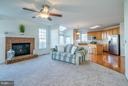 Family Room Opens To Kitchen - 25929 QUINLAN ST, CHANTILLY