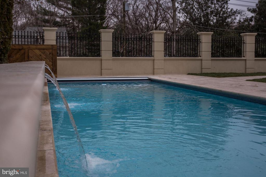 Swimming Pool Waterfall Feature - 3301 FESSENDEN ST NW, WASHINGTON